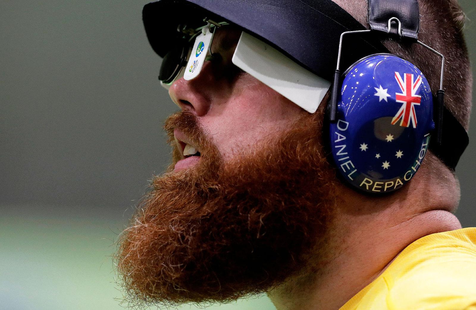 Австрелийский стрелок приехал на Рио с густой бородой