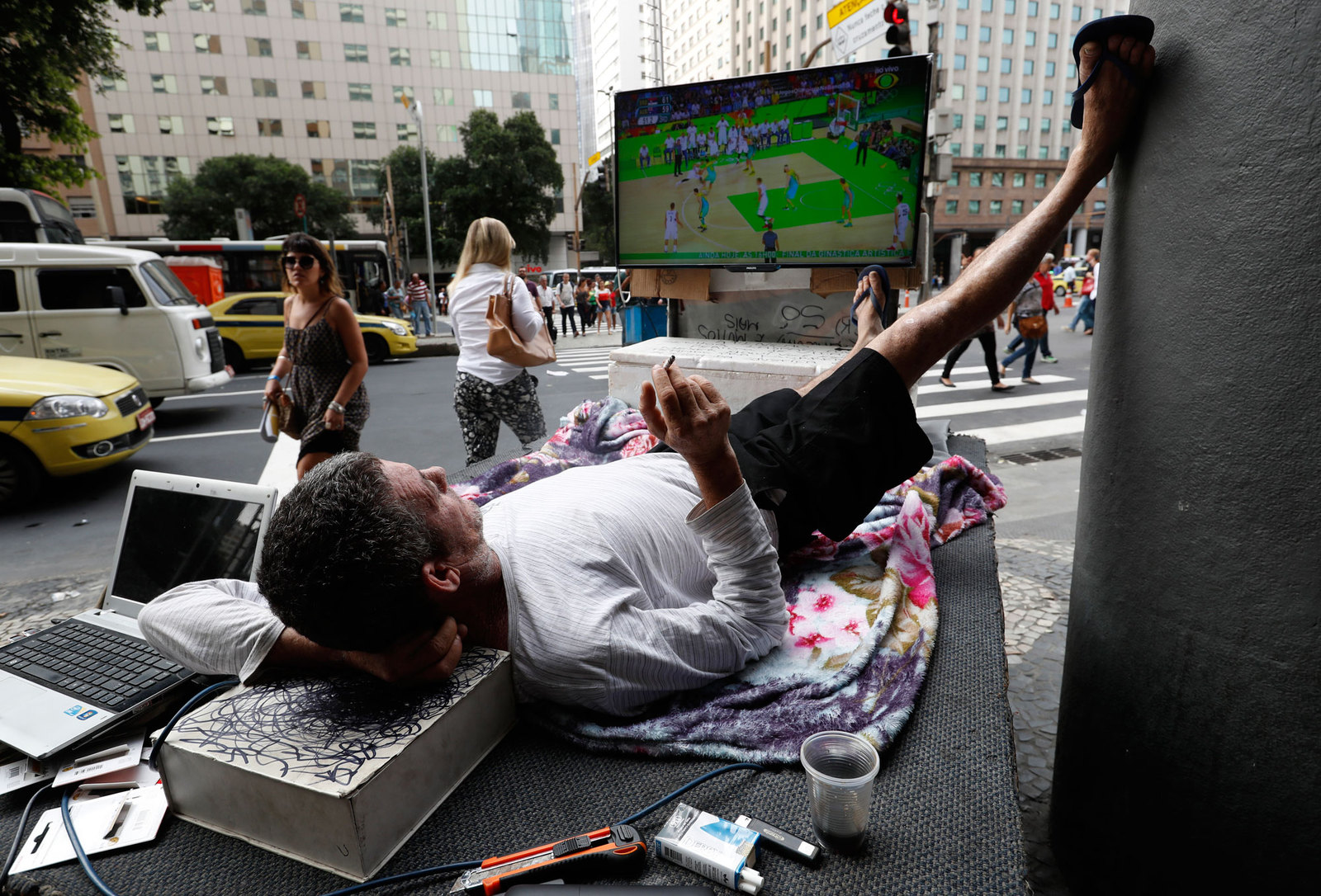 Испровизированная фан-зона в Рио