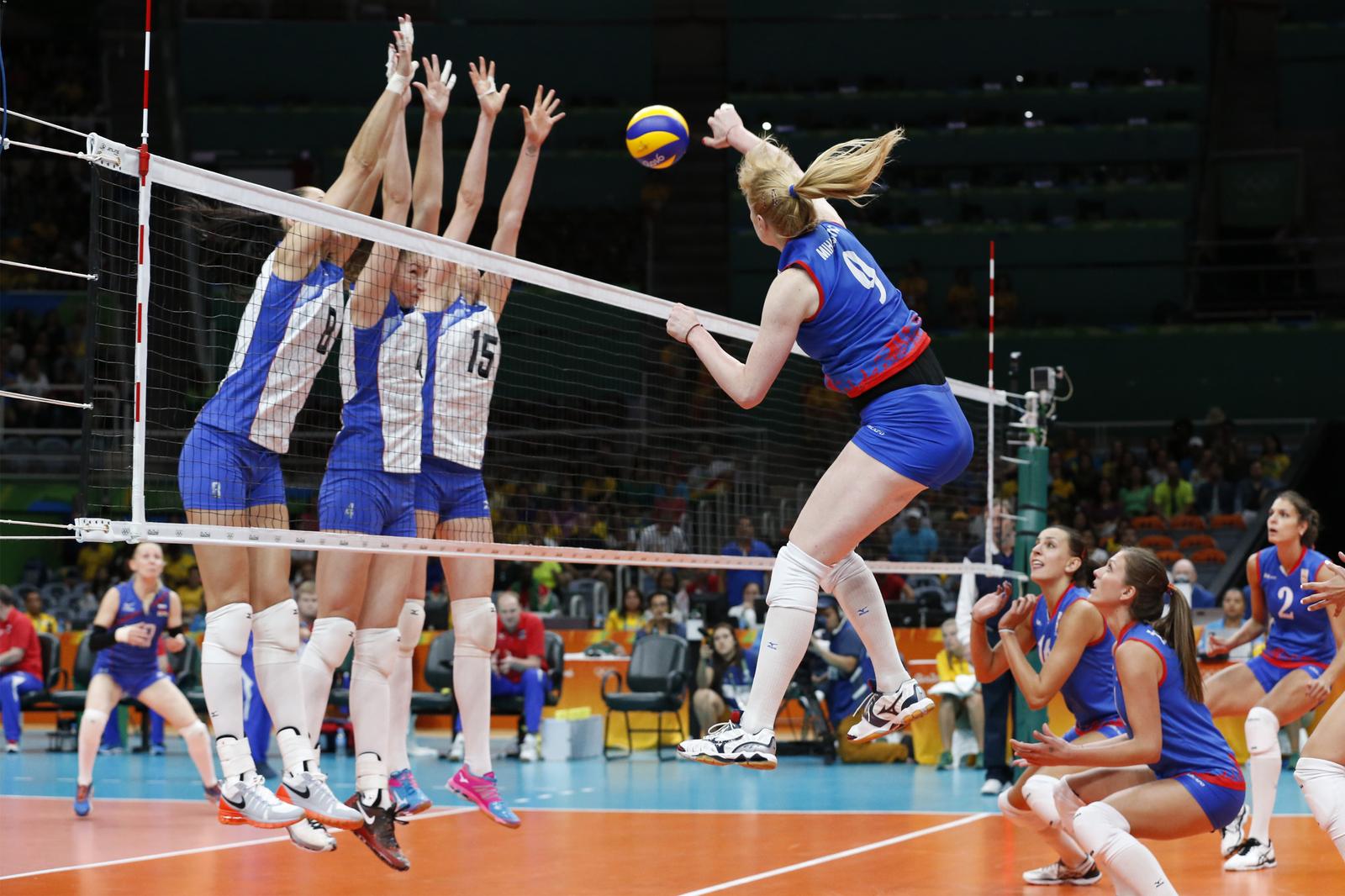 Российские волейболистки уступили сербской сборной в 1/4 финала
