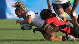 Эпизод матча Франция - Кения группового этапа по женскому регби