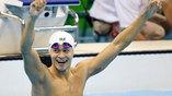 Китайский пловец Сун Янг финишировал первым в заплыве на 200 метров вольным стилем