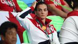 Елена Исинбаева была замечена на олимпийских соревнованиях по борьбе