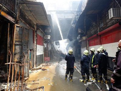 дамаске сгорел центральный рынок исторической части города