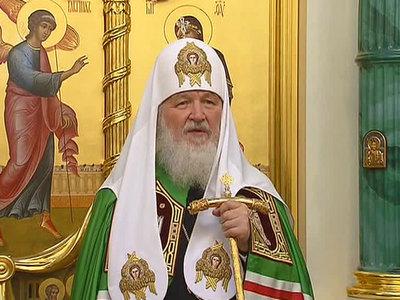 патриарх кирилл освятил храм успения пресвятой богородицы могильцах