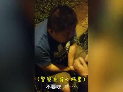 Пьяный водитель ел траву, чтобы пройти тест на алкоголь. Видео