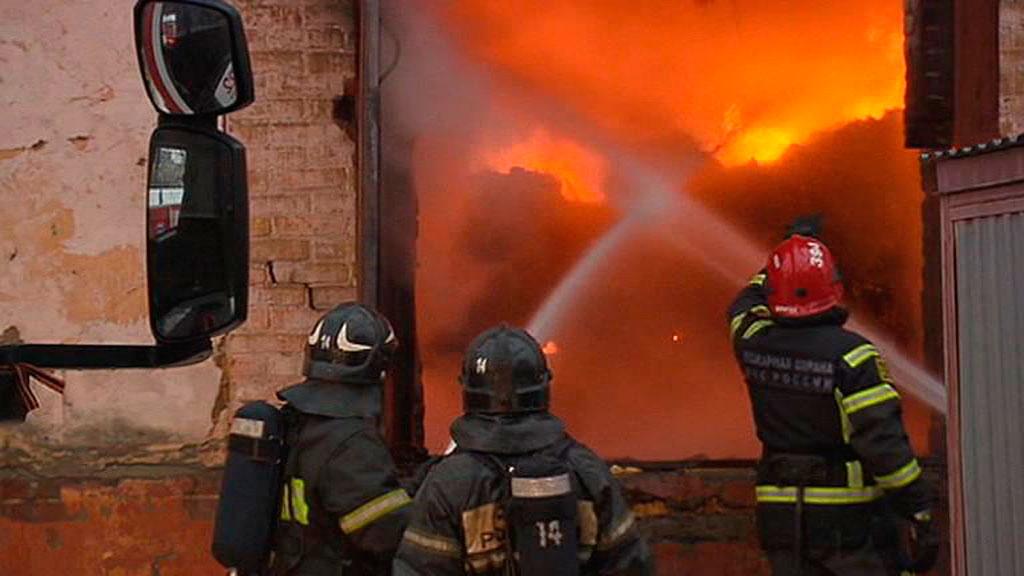 Потушен пожар вадминистративном помещении наюго-востоке столицы