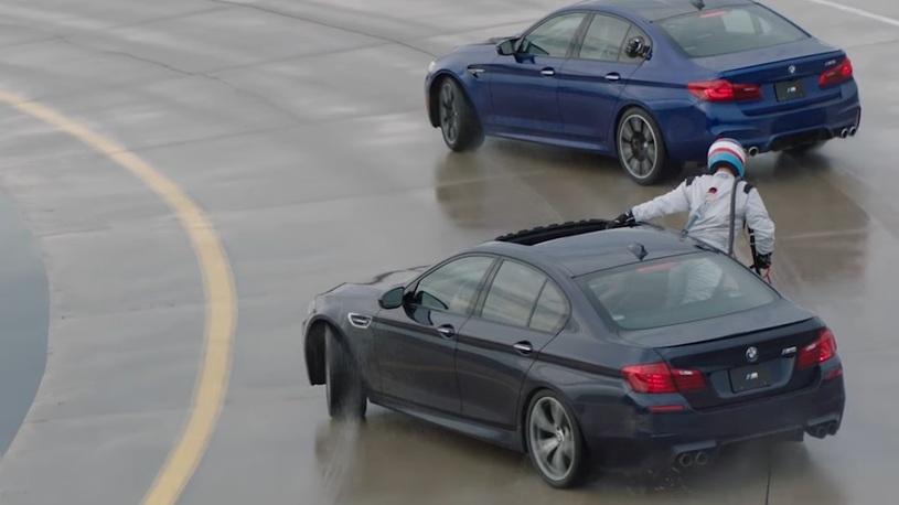 В BMW устроили рекордный дрифт с дозаправкой на ходу
