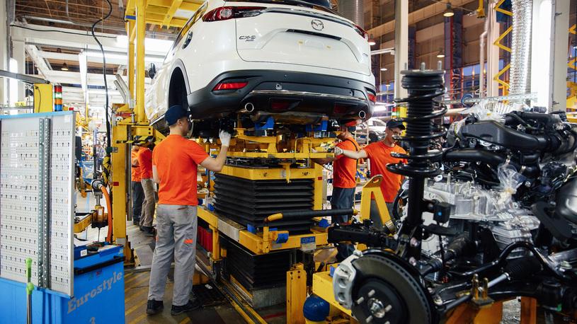 В России началось производство большого кроссовера Mazda