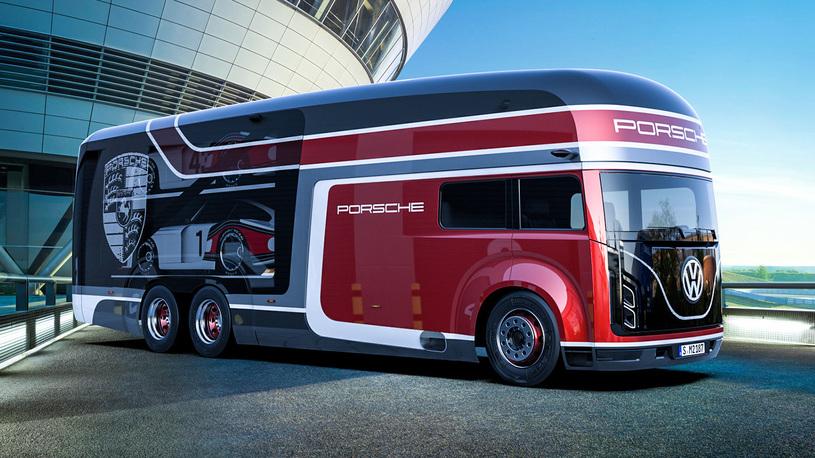 Российский дизайнер придумал очень крутой автовоз для Porsche