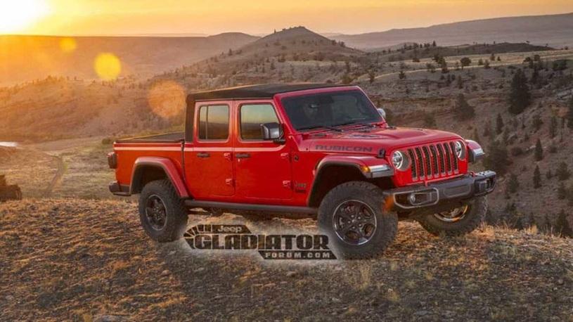 Появились фото пикапа на базе Jeep Wrangler – и это кабриолет!