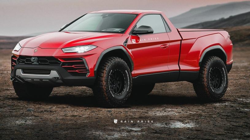 Вот как может выглядеть суперпикап Lamborghini Urus