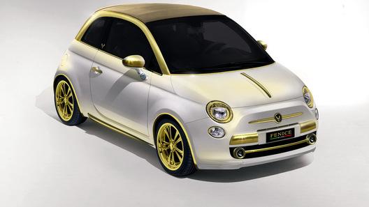 Ателье Fenice Milano анонсирует покрытый золотом Fiat 500C