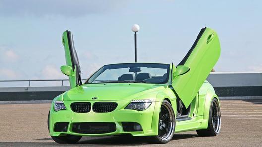 BMW 645i от тюнинг-ателье CLP Automotive:  широкий, зеленый, злой