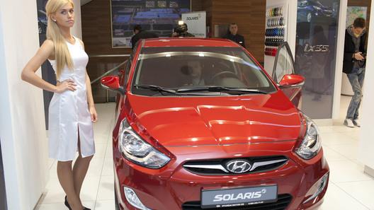 Хэтчбек Hyundai Solaris обойдется россиянам в 443 000 рублей