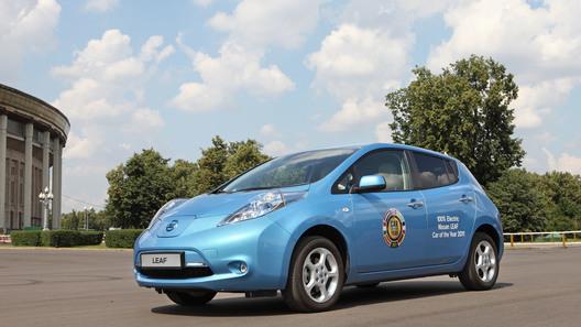 Электрический Nissan Leaf приехал в Россию