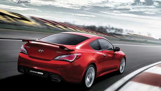 Появились новые фото обновленного Hyundai Genesis Coupe