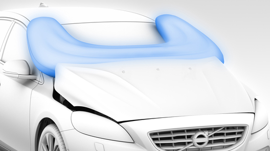 Volvo представила подушку безопасности для пешеходов