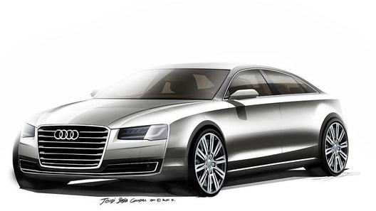Audi показал первые изображения обновленного A8