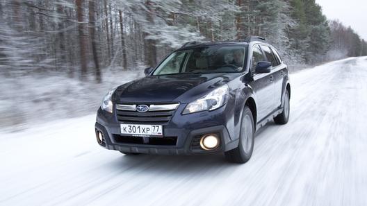 Раскатываем первый снег рестайлинговым Subaru Outback 2,5