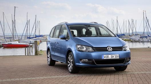 Volkswagen уточнил данные о рестайлинговом Sharan
