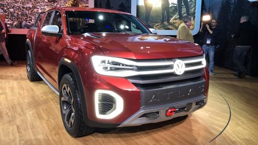Компания Volkswagen показала большой пикап на базе Atlas