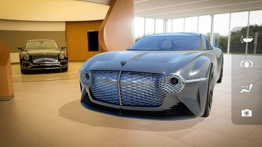 Bentley отправила концепт EXP 100 GT в виртуальную реальность