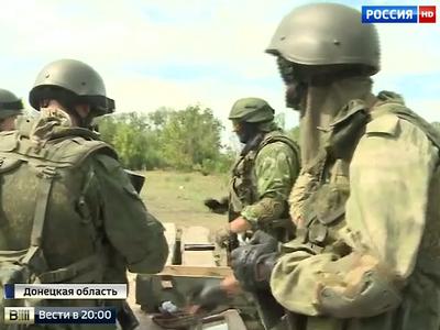 Донецкие ополченцы в третий раз пытаются отойти от села Петровское