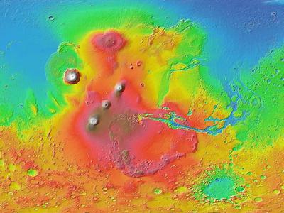 Древнее мега-цунами породило Великие Озёра на Марсе