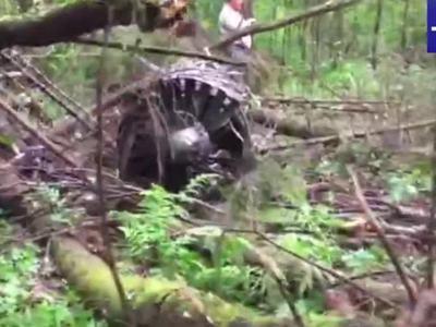В подмосковном Муранове разбился Су-27. Фотолента