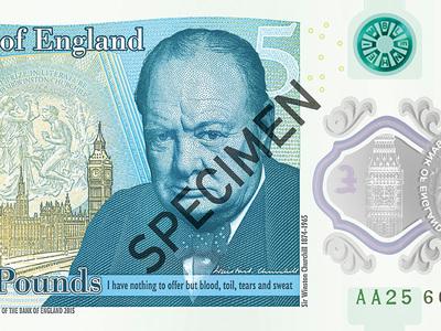 Черчилль на пластике: Банк Англии выпустил новые 5 фунтов
