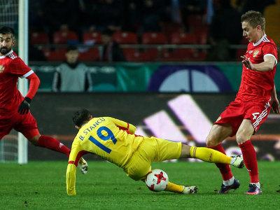 Футболисты сборной России обыграли в Грозном Румынию