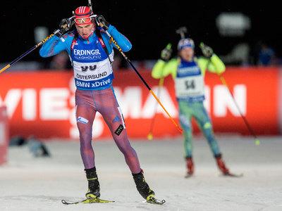Российские биатлонисты заняли второе место в эстафете