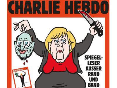 Немецкий Charlie Hebdo изобразил Меркель с отрезанной головой в руке