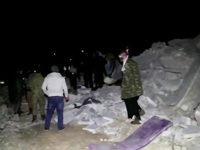 Силы коалиции разбомбили деревню в Сирии