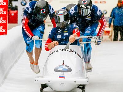 Экипаж Александра Касьянова выиграл Кубок мира по бобслею