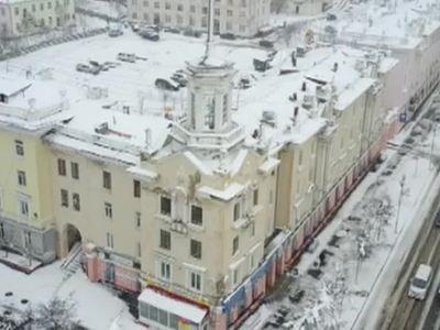 Магадан завалило снегом