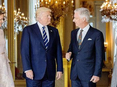"""""""Зверь"""" Трампа не пролез в ворота дворца короля Бельгии"""