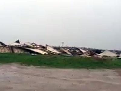 На Новой Риге ураган разметал знаменитую пирамиду Голода