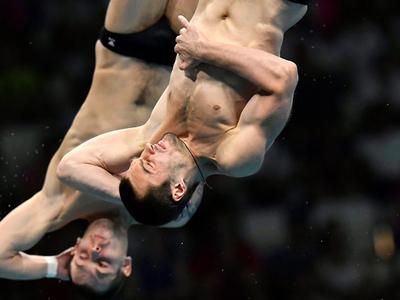 Прыжки в воду. Россияне выиграли медали синхронно
