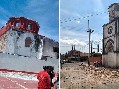 Купол церкви в Мексике обрушился во время крещения ребенка