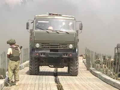 Российские специалисты возвели для сирийских военных мост через Евфрат