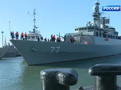Отряд боевых кораблей ВМС Ирана прибыл в Махачкалу