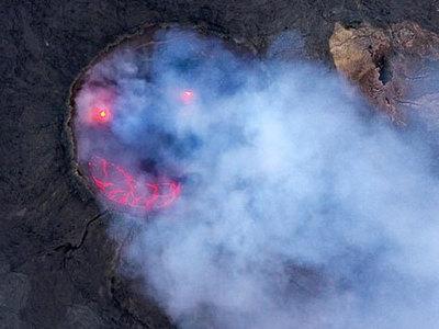 Эфиопский вулкан улыбнулся. Фото