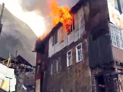 В Дагестане произошел пожар в здании сельской школы