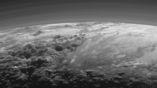 Горные хребты и морозные равнины Плутона