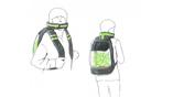 Концепция очищающего воздух рюкзака