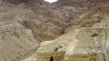 Кумранская пещера № 4, где были найдены 90% свитков Мёртвого моря