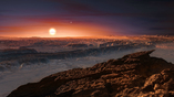 Экзопланета Проксима b в представлении художника. Кто знает, может быть, внукам наших внуков представлять себе это космическое тело не придётся: на Землю будут переданы его реальные снимки.