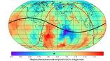 Степень риска для разных регионов Земли на момент падения Челябинского метеорита. Звёздочкой обозначены место падения на карте и риск для этого региона на шкале.