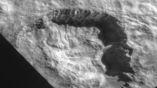 Диаметр кратера около 20 километров.